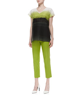 Lafayette 148 New York Lanai Shaded-Print Top & Bleecker Cropped Pants