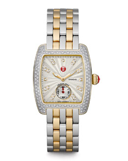 MICHELE Urban Mini Diamond Two-Tone Watch Head & 16MM Urban Mini Two-Tone Bracelet