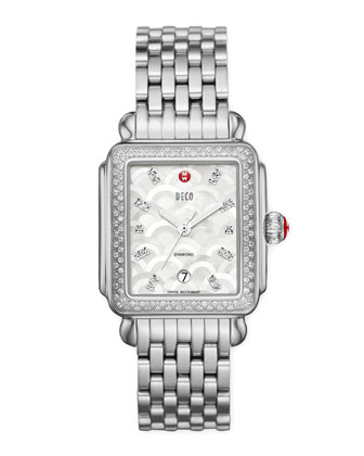 Deco Mosaic Diamond Watch Head, 18mm Deco Diamond Bracelet Strap, 18mm ...