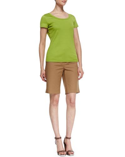 Lafayette 148 New York Cotton-Stretch Basic Tee & Metro Stretch Bermuda Shorts