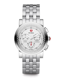 MICHELE Sport Sail Diamond Watch Head & 20mm Sport Sail Bracelet Strap