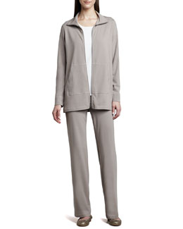 Eileen Fisher Organic Cotton Zip Jacket, Tee & Pants
