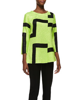 Berek 3/4-Sleeve Abstract Modern Jacket & Sweet Thing Tank Top