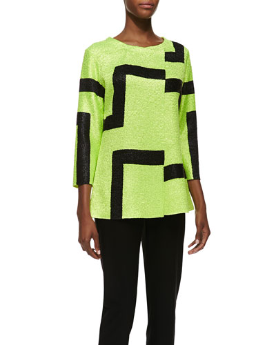 3/4-Sleeve Abstract Modern Jacket & Sweet Thing Tank Top, Women's