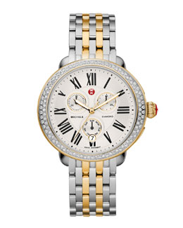 MICHELE Serein Diamond Two-Tone Watch Head & 18mm Serein Two-Tone Bracelet