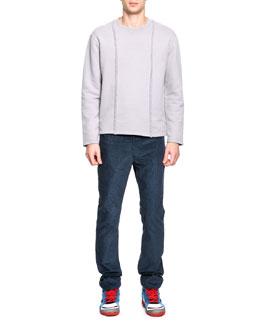 Maison Martin Margiela Crewneck Braid Detail Sweatshirt & Fine-Wale Corduroy Pants