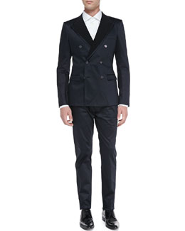 Dolce & Gabbana Light Cotton Suit & Long-Sleeve Big-Button Shirt