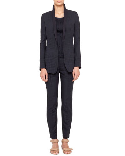 Akris punto Perforated Jacket, Ankle Pants & Plisse Sleeveless Tee