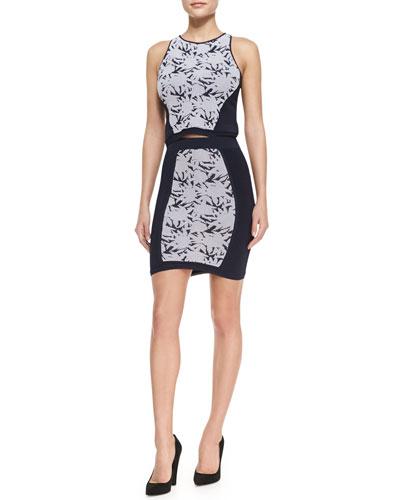 Rebecca Minkoff Okina Jacquard Knit Top &  Skirt