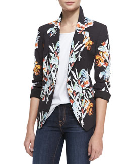 Rebecca Minkoff Arelia Maui One-Button Jacket & Hula-Graphic Tee