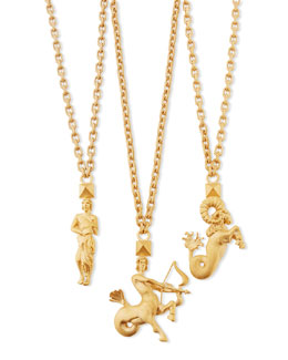 Valentino Golden Zodiac Necklace