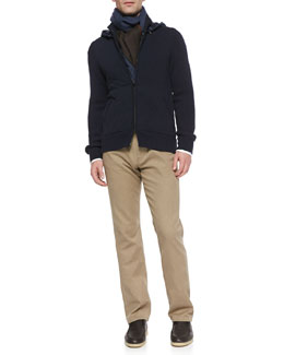 Loro Piana Quilted Cashmere Bomber Jacket and Brisbane Delave 5-Pocket Pants
