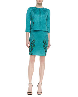 St. John Collection Top-Closure Jacket Topper & Sleeveless Sheath Dress