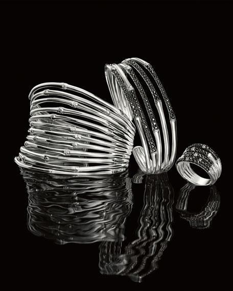John Hardy Bamboo Silver Lava Narrow Flex Cuff,
