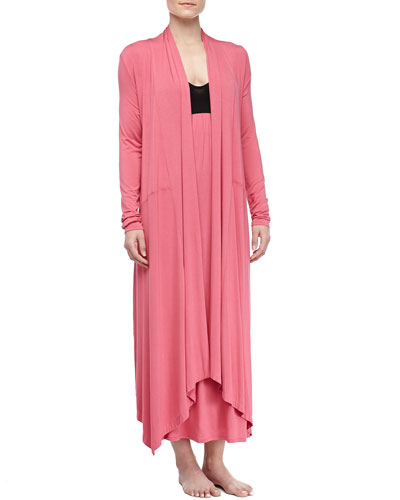 Donna Karan Liquid Jersey Wrap Robe & Long Gown, Rose Quartz