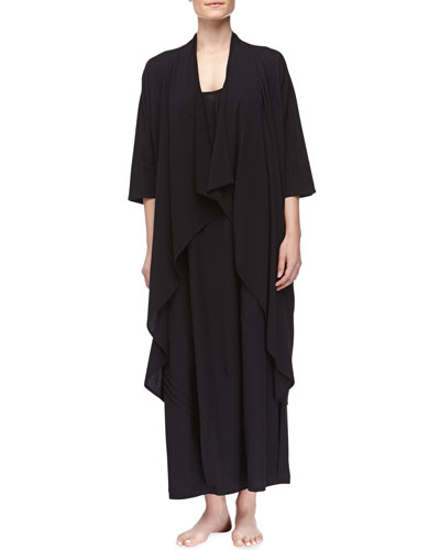 Donna Karan Pima Cotton Oversized Cozy & Long Tank Gown