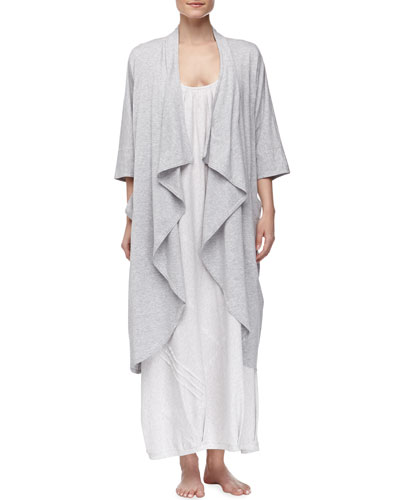 Donna Karan Pima Cotton Oversized Cozy & Long Tank Gown, Gray