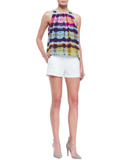 Trina Turk Bella Printed Sleeveless Top & Fabiana Knit Shorts