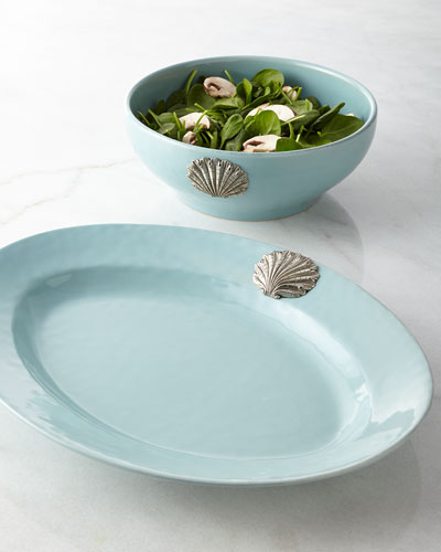 Coquille Oval Platter & Bowl