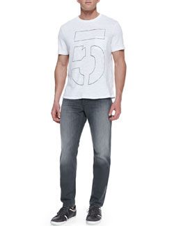 Rag & Bone Number Pocket Tee and Pullman Skinny Jeans