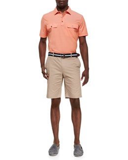 Michael Kors  Two-Pocket Polo Shirt & Slim Twill Shorts