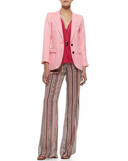 Smythe Bright Crepe Boyfriend Blazer, Jamie Jersey Convertible Dress & Pembroke Escher-Print Pants
