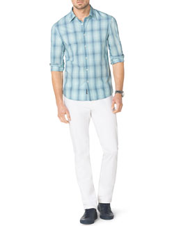 Michael Kors  Francois Check Shirt & Stretch Calvary Jeans