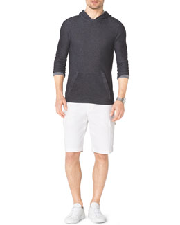 Michael Kors  Waffle-Pattern Hooded Pullover & Cargo Shorts
