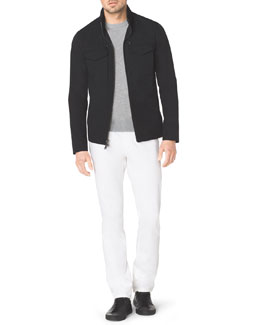 Michael Kors  Tech Fabric Zip Jacket & Stretch Calvary Jeans
