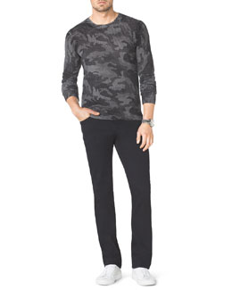 Michael Kors  Camo-Print Knit Sweater & Modern-Fit Jeans