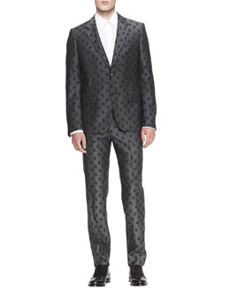 Alexander McQueen Allover Skull-Print Jacket, Harness Shirt & Allover Skull-Print Trousers