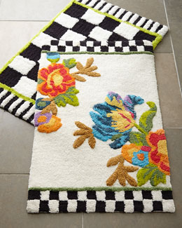 MacKenzie-Childs Courtly Check® & Flower Market Bath Mats