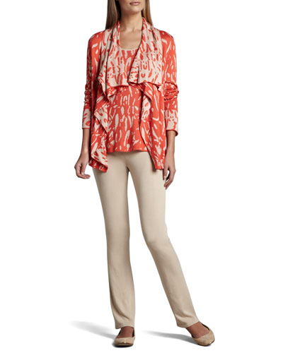 Neiman Marcus Reversible Animal-Print Cardigan, Tank & Knit Pants