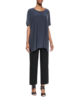 Caroline Rose One-Size Jersey Caftan & Wide-Leg Ankle Pants