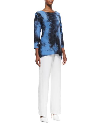 Caroline Rose Double-Face Tie-Dye Tunic & Straight-Leg Jersey Pants, Women's