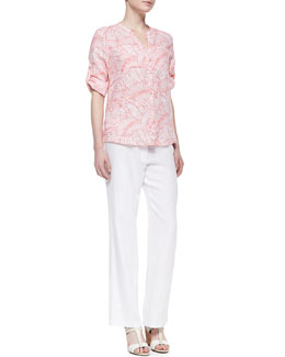 Tommy Bahama Penciled Palm Linen Shirt & Two Palms Linen Pants