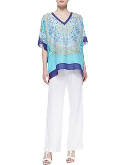 Tommy Bahama May Pen Medallion Tunic & Two Palms Linen Pants