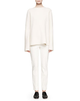 THE ROW Ismenia Merino-Cashmere Sweater and Shama Slim-Leg Pants