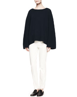 THE ROW Astya Oversized Knit Sweater and Shama Slim-Leg Pants