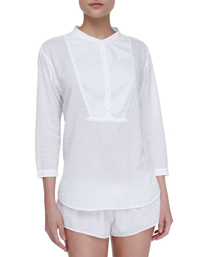 Xirena Hadley Cotton Poplin Sleep Shirt & Shaya Lounge Shorts