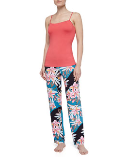 Cosabella Talco Long Jersey Camisole & Ibisco Printed Pajama Pants