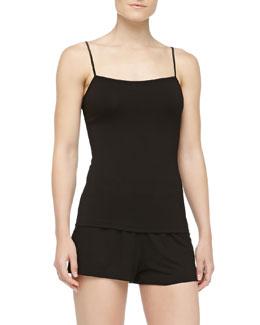 Cosabella Talco Jersey Camisole & Boxer Shorts, Black
