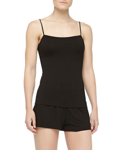 Talco Jersey Camisole & Boxer Shorts, Black