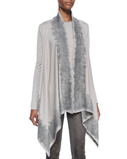 Donna Karan Long-Sleeve Drape Front Cozy Cardigan & Sleeveless Top