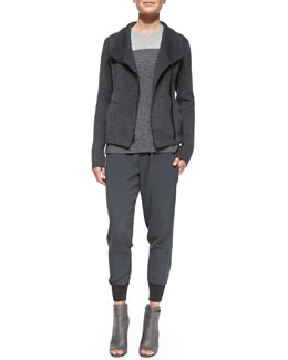 Vince Knit Scuba Sweater, Colorblock Cashmere Crewneck Sweater & Ribbed-Cuff Jogger Pants