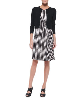 Tory Burch Petite Simone Button-Down Cardigan & Liana Polka-Dot Dress