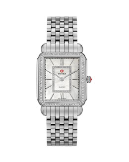 MICHELE Deco II Diamond Dial Watch Head & 7-Link Bracelet
