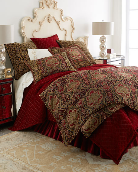 Isabella Collection King Kiera Red & Gold Duvet