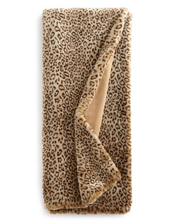 "Dian Austin Couture Home ""Snow Leopard"" Faux-Fur Throws"