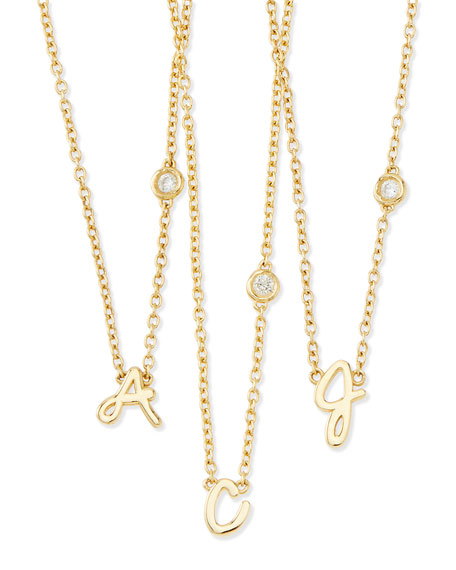 SHY by SE C Initial Pendant Necklace with